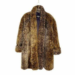 Vintage Monterey Leopard Faux Fur Coat